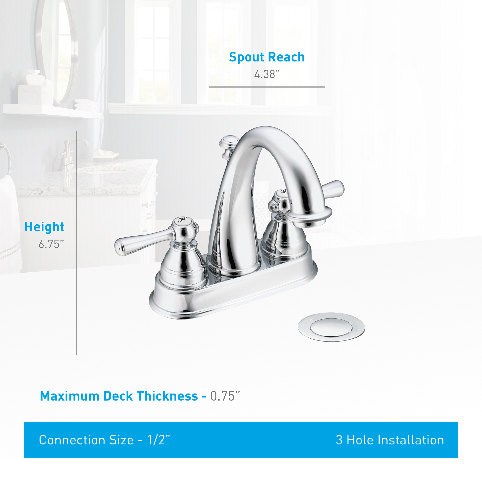 Moen 6121p Polished Brass Double Handle Centerset Bathroom Faucet From The Kingsley Collection
