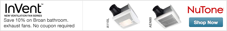 Save 10% on NuTone InVent bathroom exhaust fans