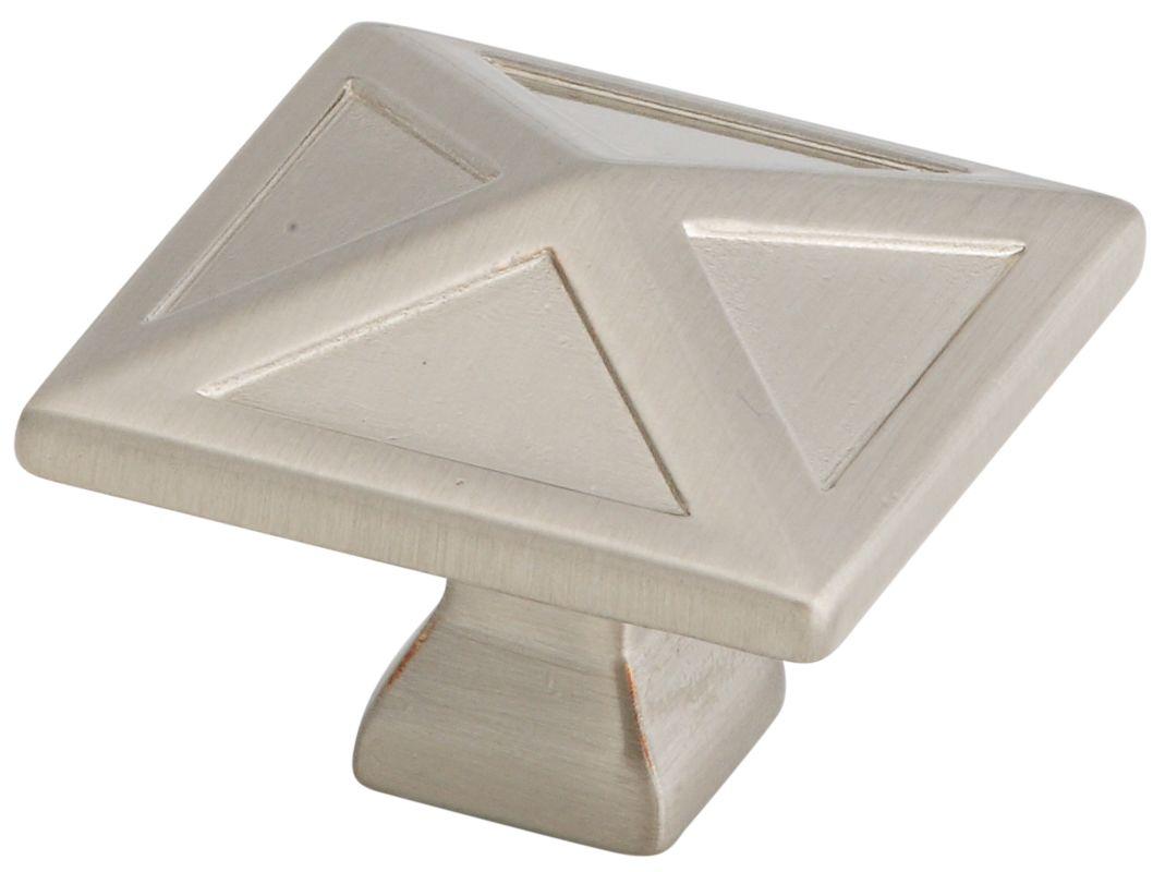 Stanley Home Designs BB8050SN Satin Nickel Pinnacle 1 3 16 InchSquare Cabinet