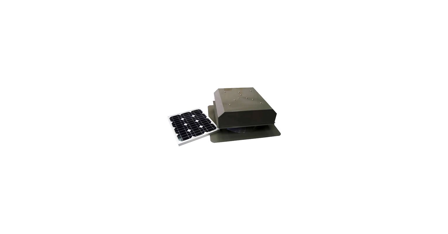 Attic Breeze Ab 252d Gry Gray 1550 Cfm Roof Mounted Self