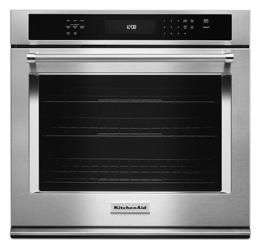 KitchenAid KOSE500ESS Stainless Steel 30 Inch Wide 5.0 Cu. Ft. Electric Wall Oven with Even-Heat ...