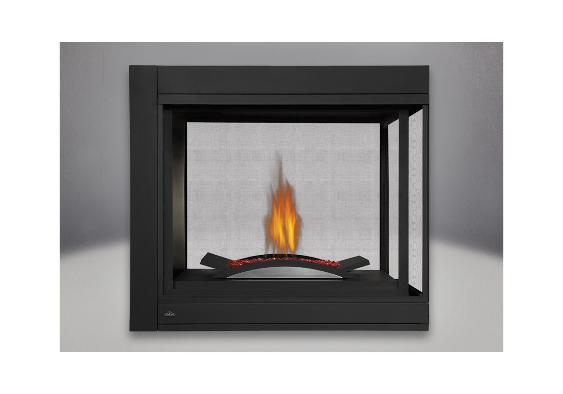 Napoleon Bhd4pfcn N A 30000 Btu Built In Direct Vent Natural Gas Peninsula Fireplace With