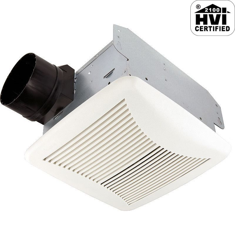 Nutone 80nt White 80 Cfm 2 Sone Ceiling Mounted Energy Star Rated And Hvi Certified Bath Fan