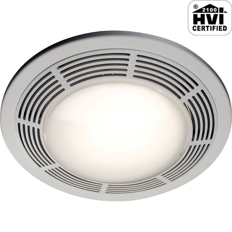 Nutone 8664rp white 100 cfm 3 5 sone ceiling mounted hvi for Part f bathroom fan