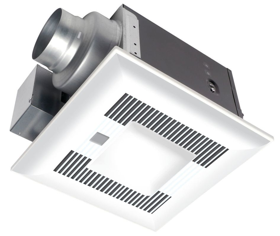 Panasonic Whisperwarm 110 Cfm Ceiling Exhaust Bath Fan: Panasonic FV-11VQCL6 White WhisperSense-Lite 110 CFM 0.7
