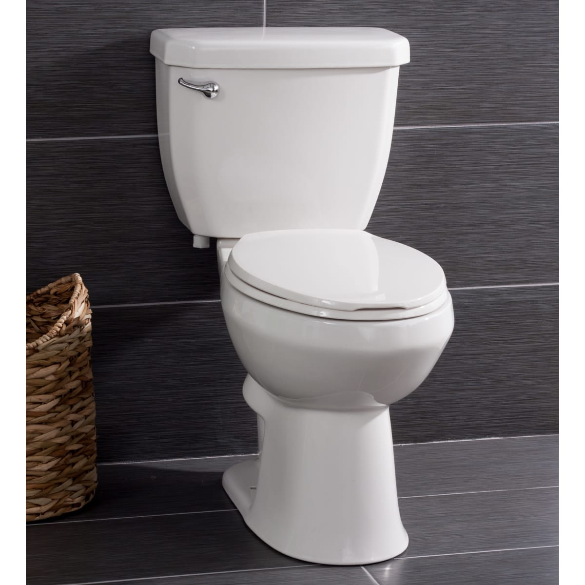 Miseno High-Efficiency 2-Piece Elongated Chair-Height Toilet with Seat (White)