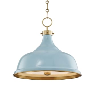 Hudson Valley Lighting Mds300 Agb Bb Aged Brass Painted No 1 3 Light 18 Wide Pendant