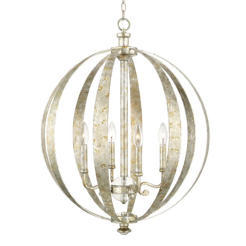 Capital Lighting 4184AS CR Antique Silver Chandelier