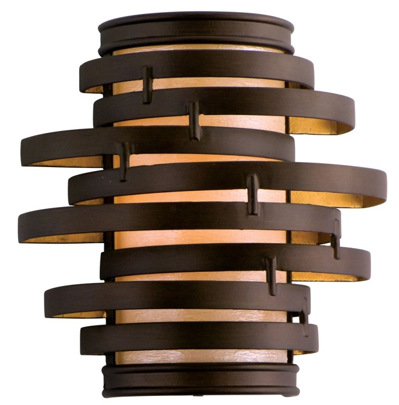 Corbett Lighting 113 11 Bronze Gold Leaf Wall Light