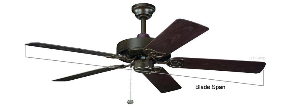 ceiling fan blade measurement - Kichler Fans