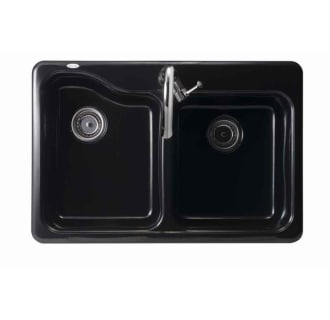 American Standard 7145 001 178 Black Double Basin Americast