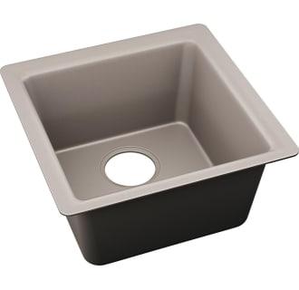 Elkay Elx1616sm0 Silvermist Quartz Luxe 15 3 4 Undermount Single Basin Quartz Composite Kitchen Sink Faucet Com