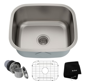Kraus Kbu11 Stainless Steel 20 3 4 Single Basin 16 Gauge Stainless Steel Kitchen Sink For Undermount Installations Basin Rack And Basket Strainer Included Faucet Com
