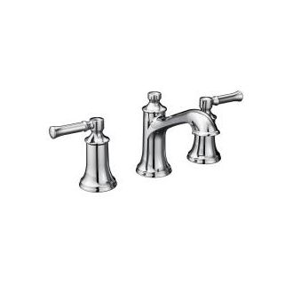 Moen T6805 Chrome Double Handle Widespread Bathroom Faucet from the Dartmoor Collection - Pop-Up Drain Included - Faucet.com