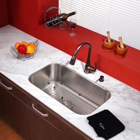 Kraus Kpf 2230 Ksd 30ch Chrome Pullout Spray Kitchen