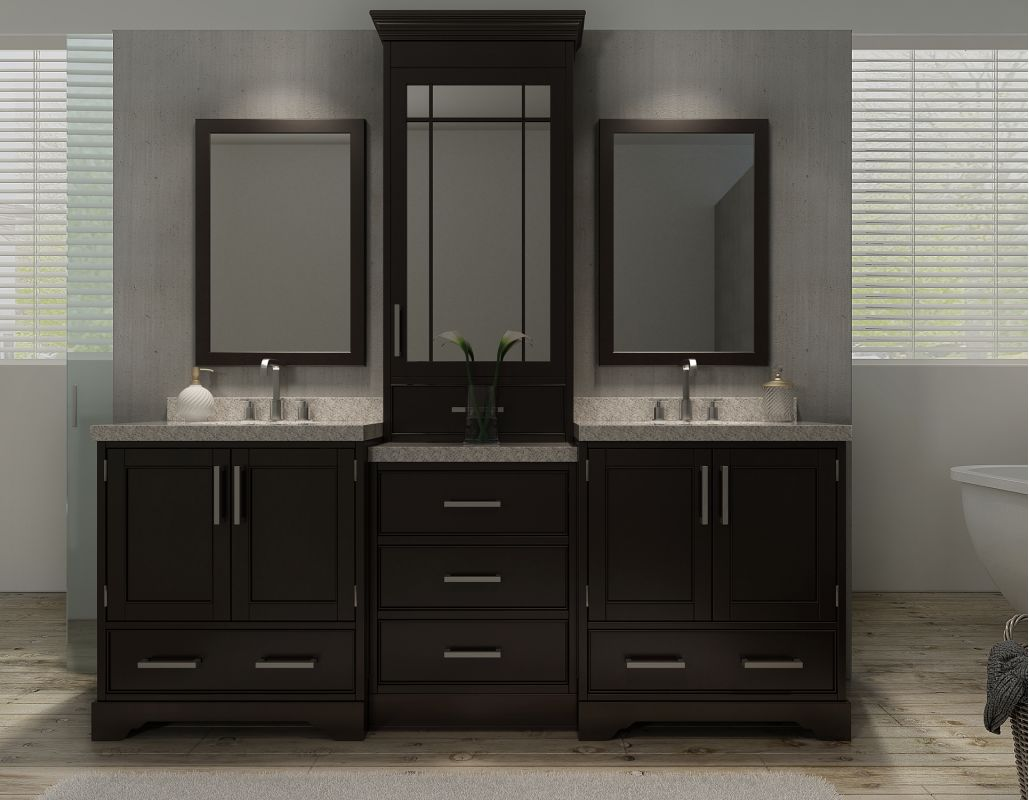 84 inch double sink vanity top. Click to view larger image Faucet com  M085D ESP in Espresso by Ariel