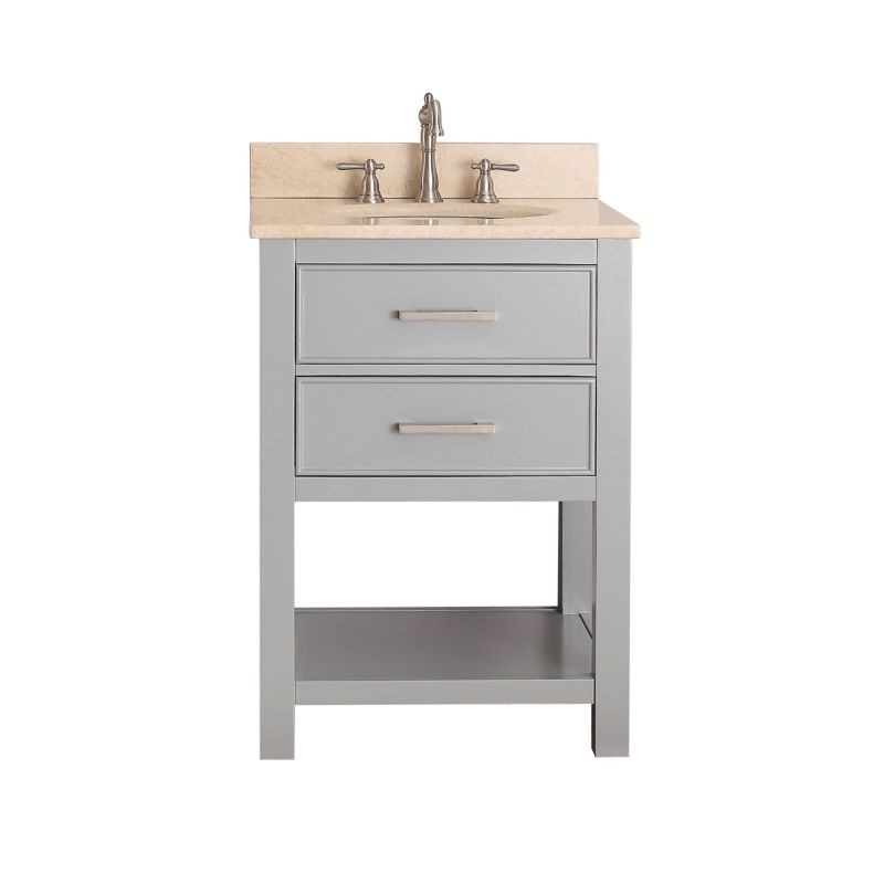 Faucet.com | BROOKS-VS24-CG-B in Chilled Gray / Beige Marble Top ...