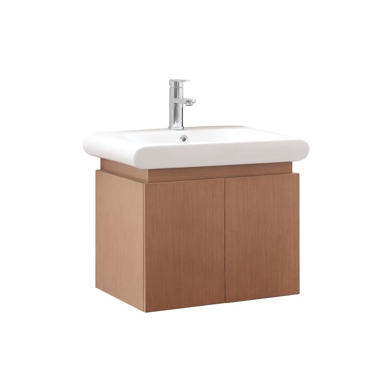Faucet.com | ELLE-VS24-PW in Pear Wood / White by Avanity