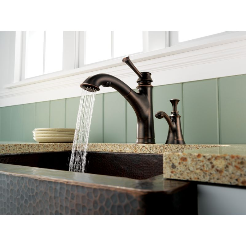 Kitchen Faucet With Soap Dispenser In Plate