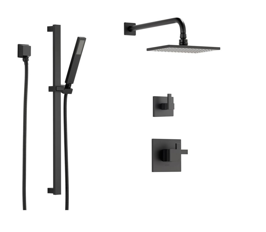 Faucet com   BS845 BL in Matte Black by Brizo. Black Shower Head And Faucet. Home Design Ideas