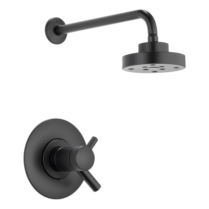 Faucet com   T60275 BL in Matte Black by Brizo. Black Shower Head And Faucet. Home Design Ideas