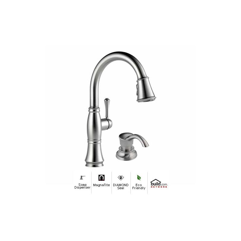 Faucet.com   9197-AR-DST-SD in Arctic Stainless by Delta