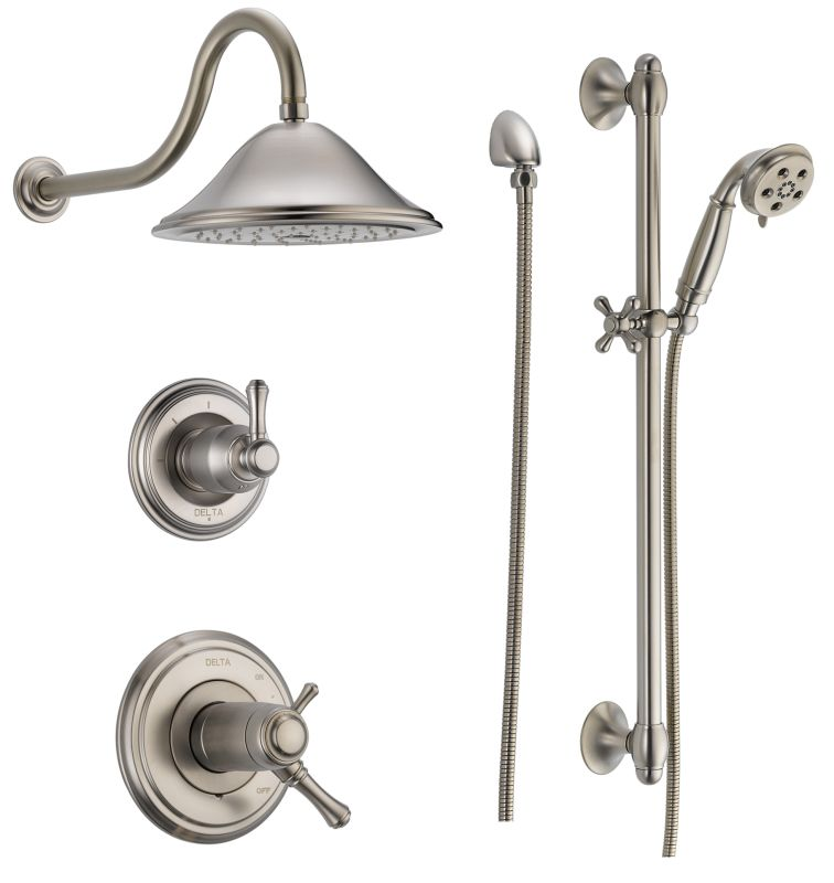 faucetcom in brilliance polished nickel by delta - Delta Shower Heads