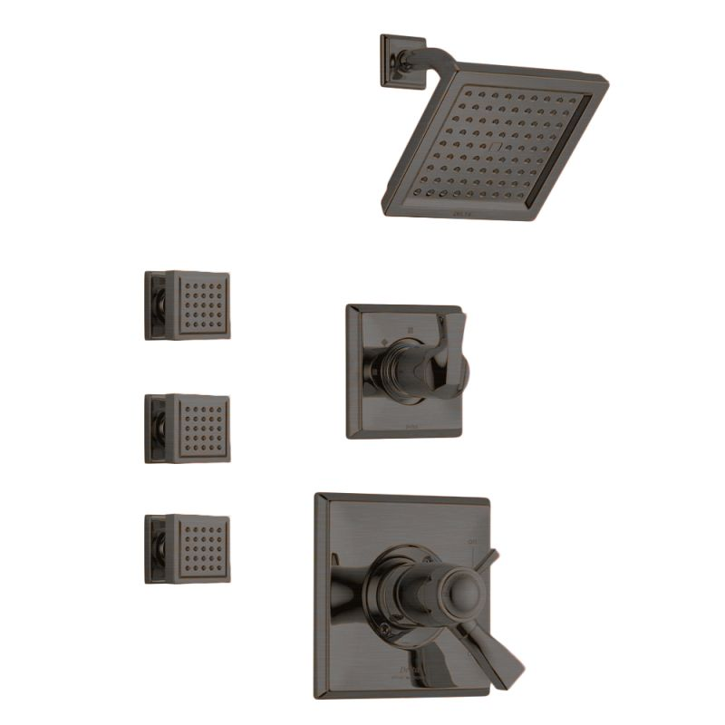faucetcom dryden tempassure shower package cz in champagne bronze by delta