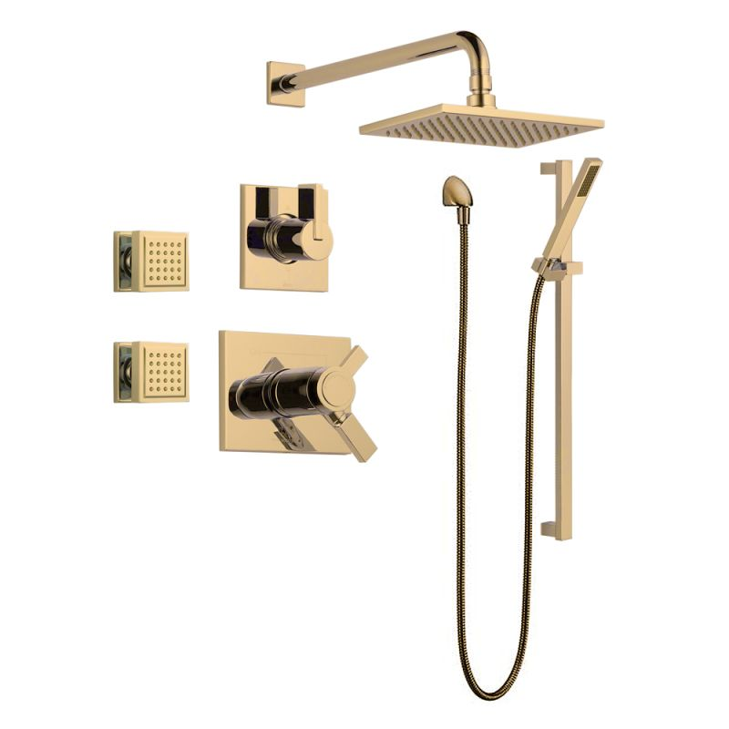 Faucet.com | Vero TempAssure Shower Package CZ in Champagne Bronze ...