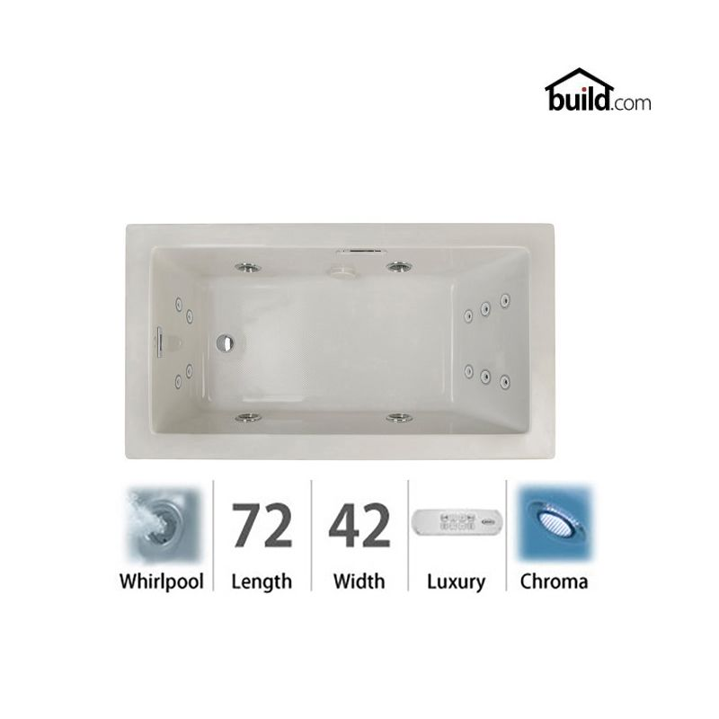 Faucet.com | ELA7242WLR4CHYC in Oyster / Chrome Trim by Jacuzzi