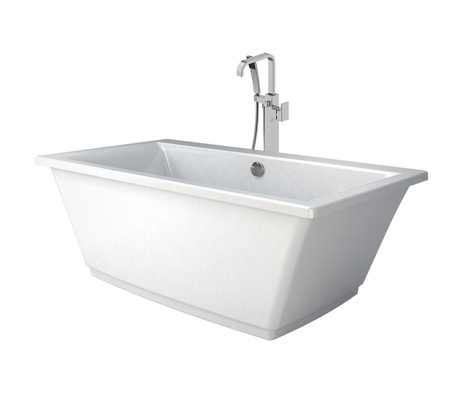 Free Standing Jetted Soaking Tub. Jacuzzi Bath Extravaganza Faucet com  HEB6636BCXXXXW in White Chrome Tub Filler by