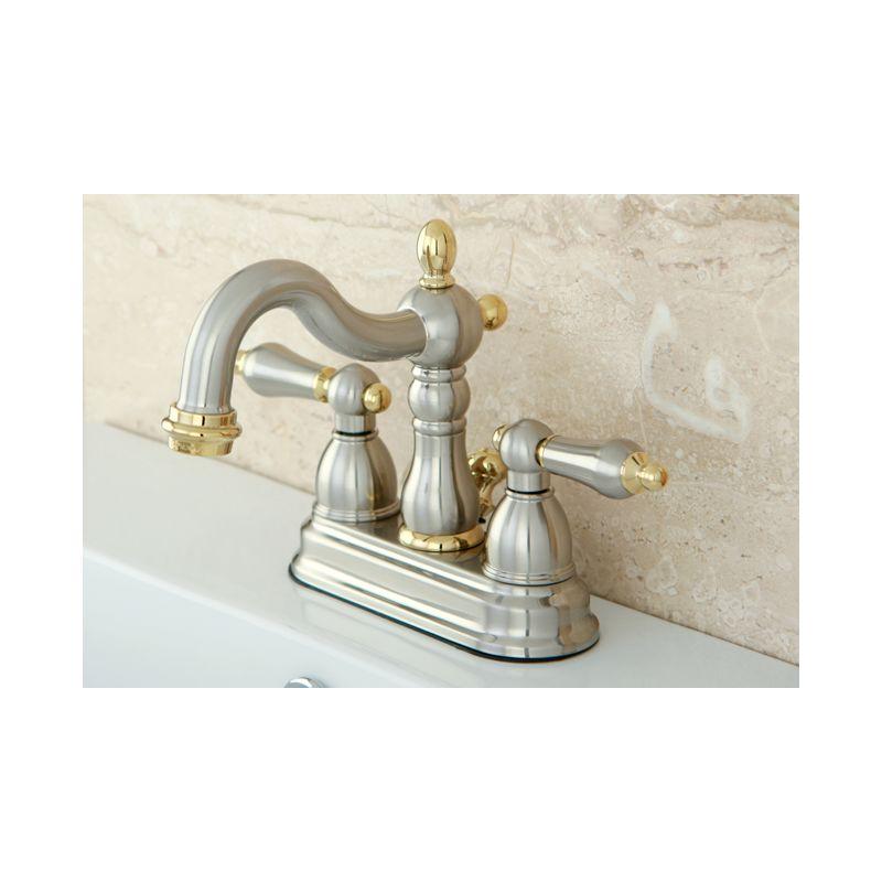 Kb1603al in antique brass by kingston brass - Antique brass bathroom faucet centerset ...