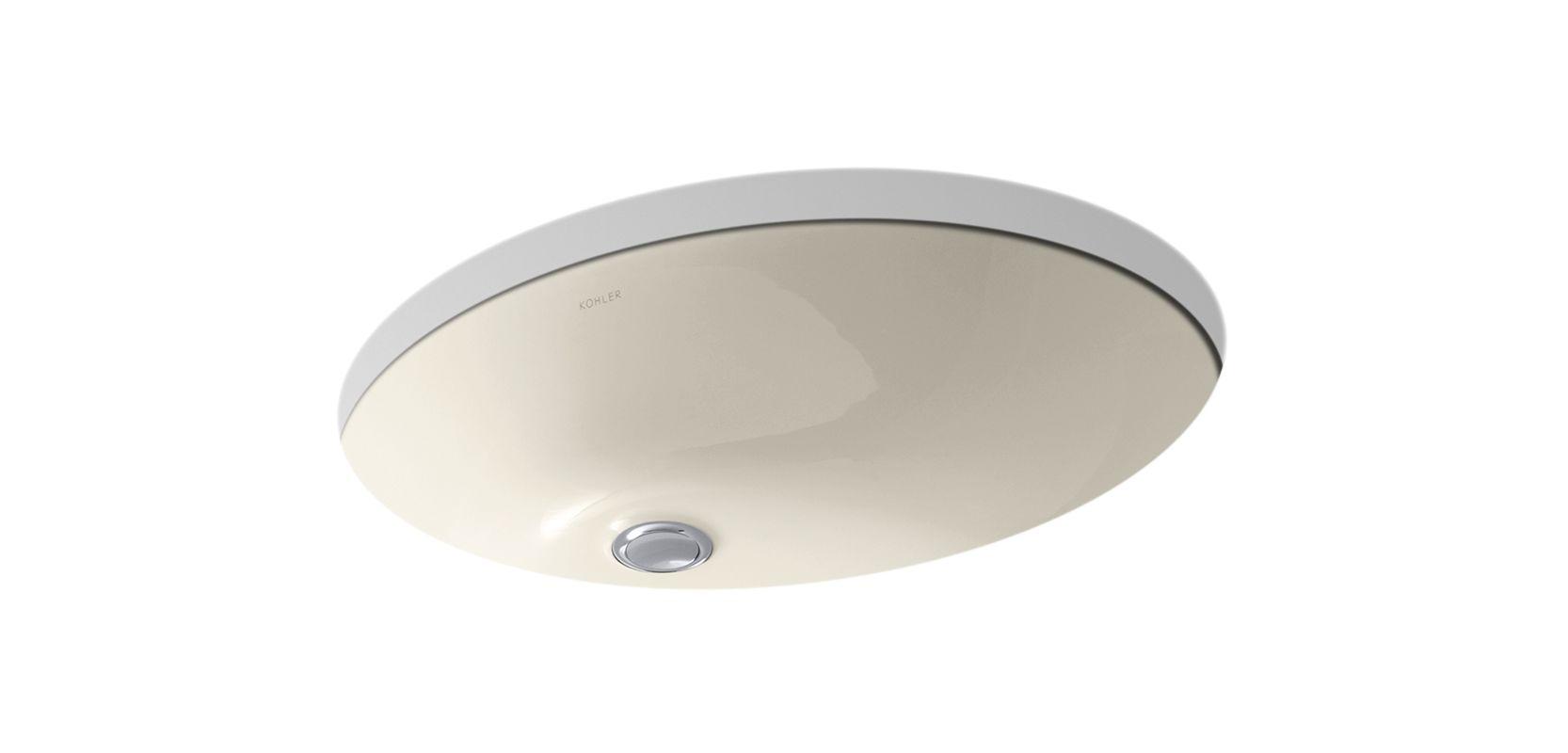 Kohler Undermount Bathroom Sink faucet   k-2211-47 in almondkohler