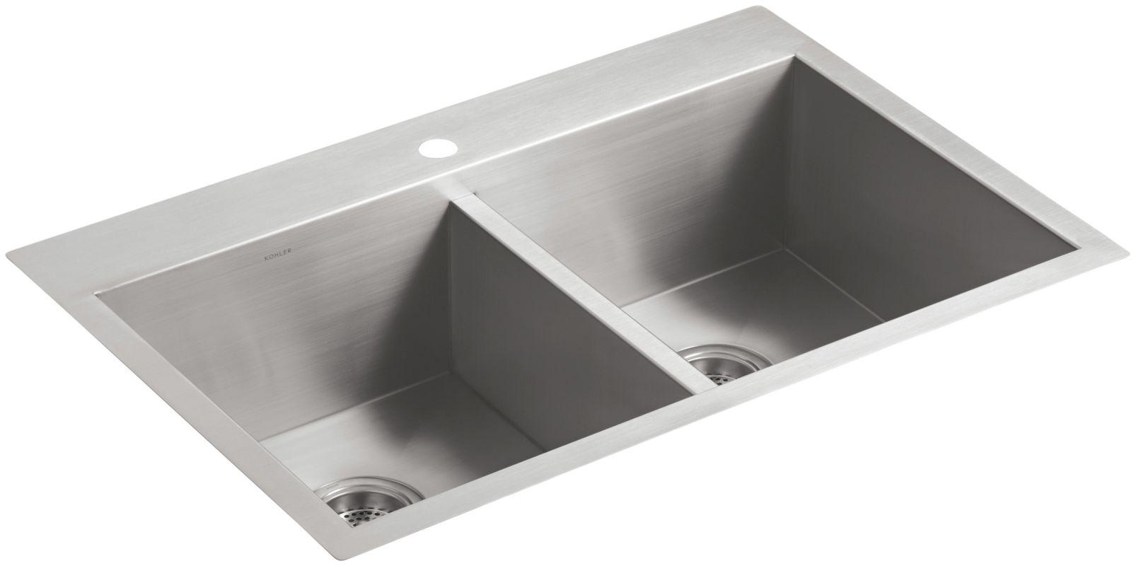 Kohler Stainless Steel Kitchen Sinks faucet | k-3820-1-na in stainlesskohler