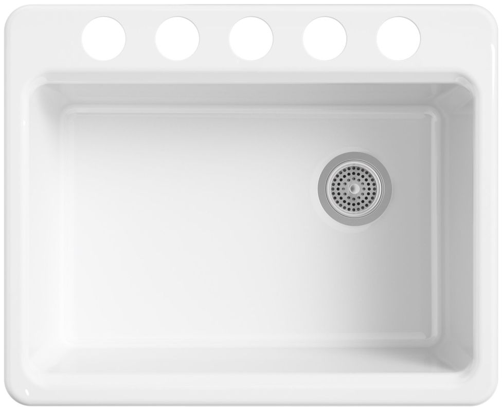 Kohler K 8668 5ua2 0 White Riverby 27 Single Basin Cast