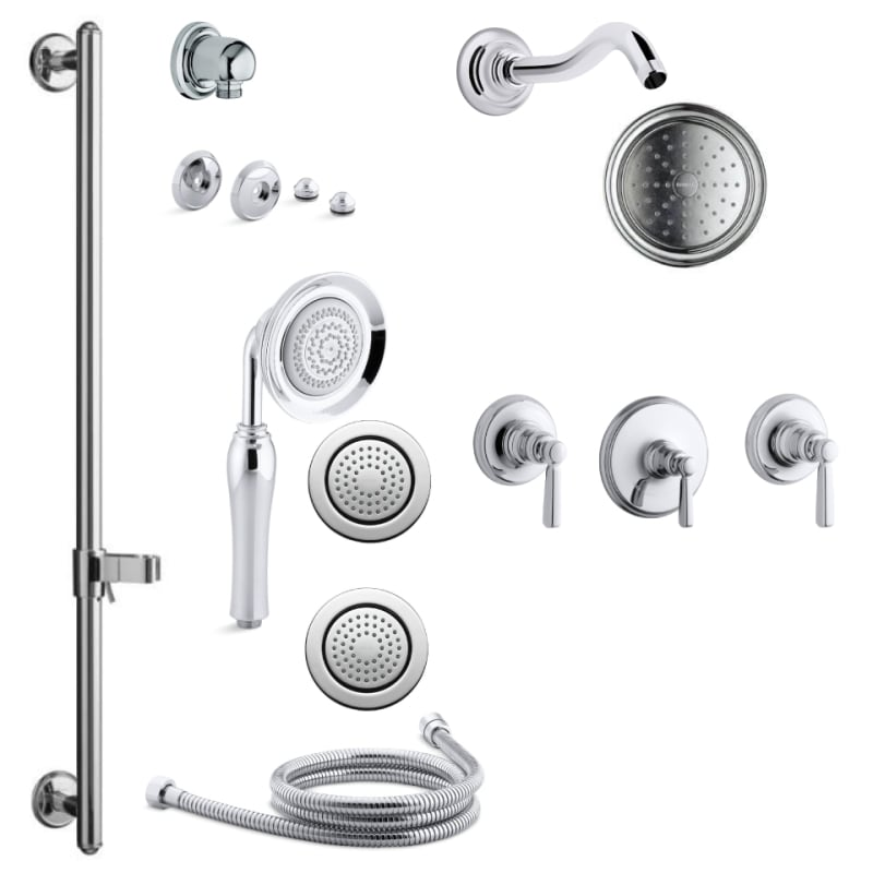 Kohler Bancroft Shower Head Purist Ritetemp Shower Faucet Trim With Lever Handle Valve Not