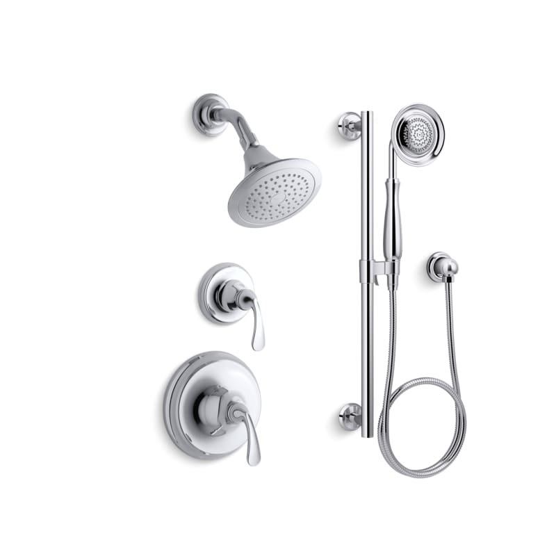Faucet.com | K-FORTE-RT11-4E-CP in Polished Chrome by Kohler