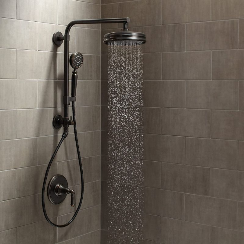 rain shower head with wand. Kohler Artifacts HydroRail Custom Shower System Showers  Faucets and Systems at Faucet com