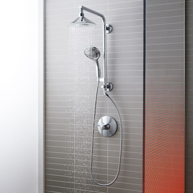 Faucet.com | Moxie HydroRail Custom Shower System CP in Polished ...