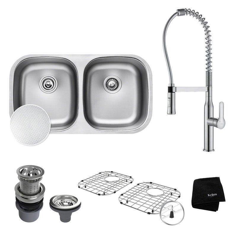 Faucet.com | KBU22E / KPF-1650 in Stainless Steel / Chrome by Kraus