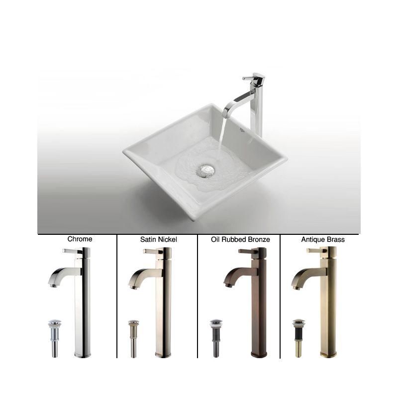 Faucet.com | C-KCV-125-1007SN in Satin Nickel by Kraus