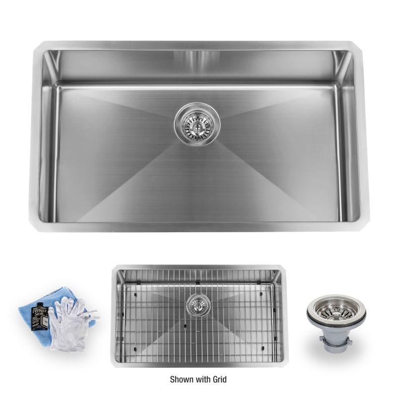 Kitchen Sink Drain Kit: MSS163219SR In 16 Gauge Stainless Steel By Miseno