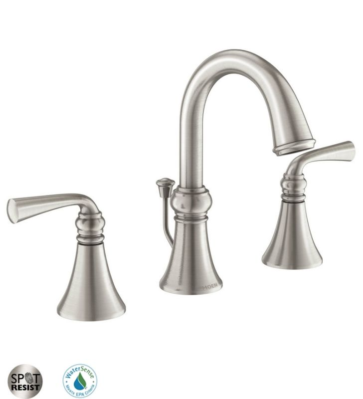 Faucet.com | 84855SRN in Spot Resist Brushed Nickel by Moen