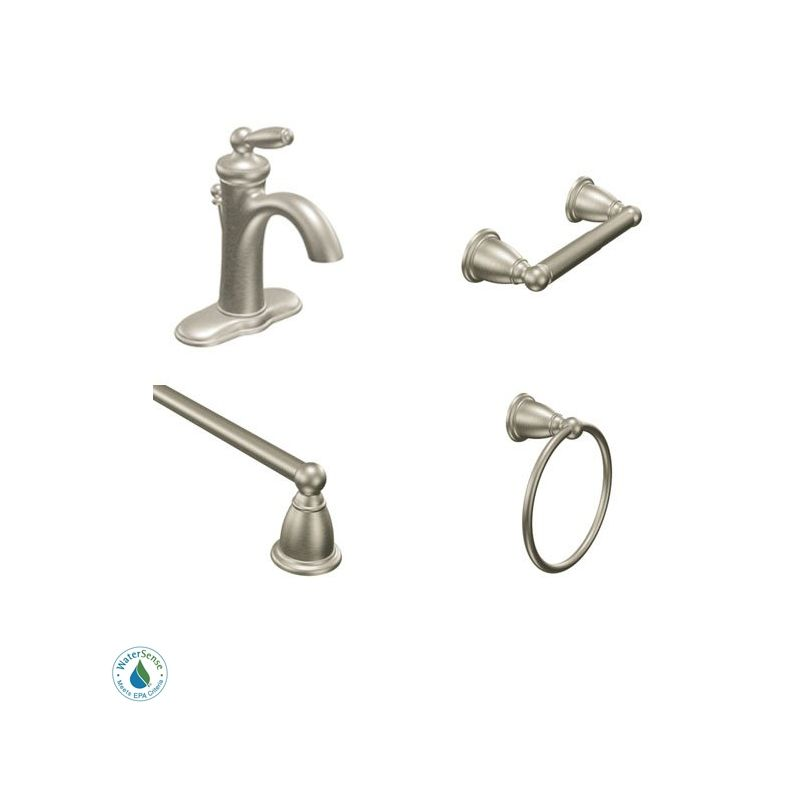 faucetcom brantford faucet and accessory bundle 2bn in brushed nickel by moen