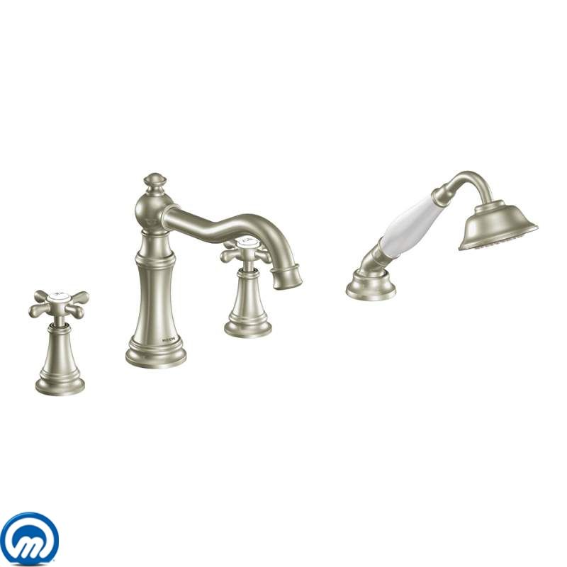 Faucet.com | TS21102BN in Brushed Nickel by Moen