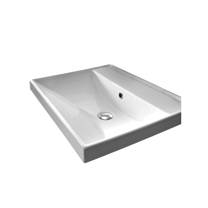 . Faucet com   Scarabeo 3001 No Hole in White   No Hole by Nameeks