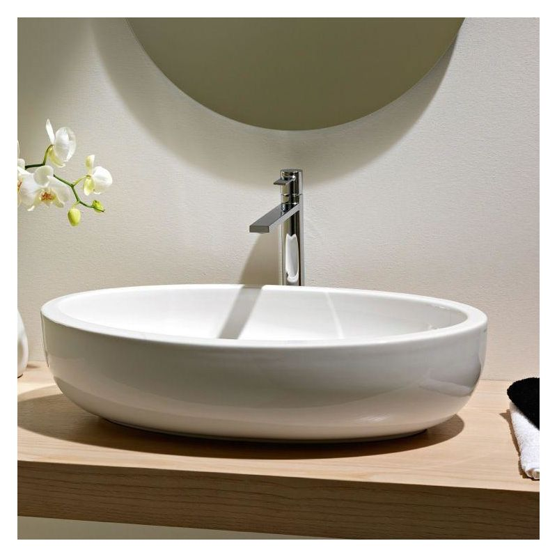 . Faucet com   Scarabeo 8111 No Hole in White   No Hole by Nameeks