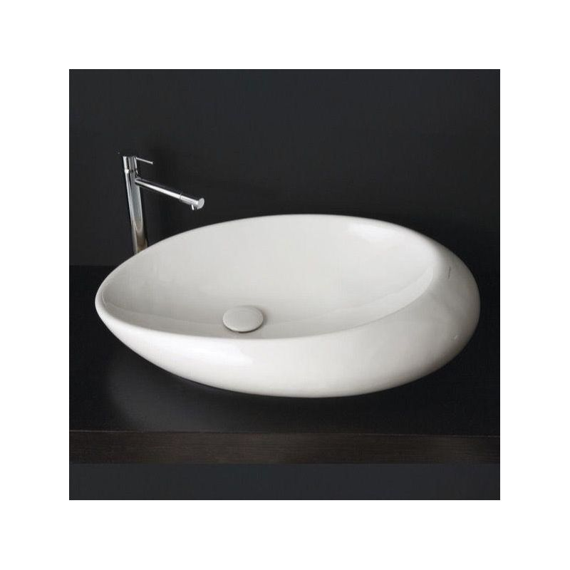 . Faucet com   Scarabeo 8601 No Hole in White   No Hole by Nameeks