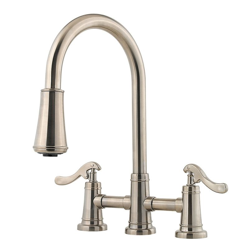 2 Handle Kitchen Faucets | Faucet Com Lg531 Ypk In Brushed Nickel By Pfister