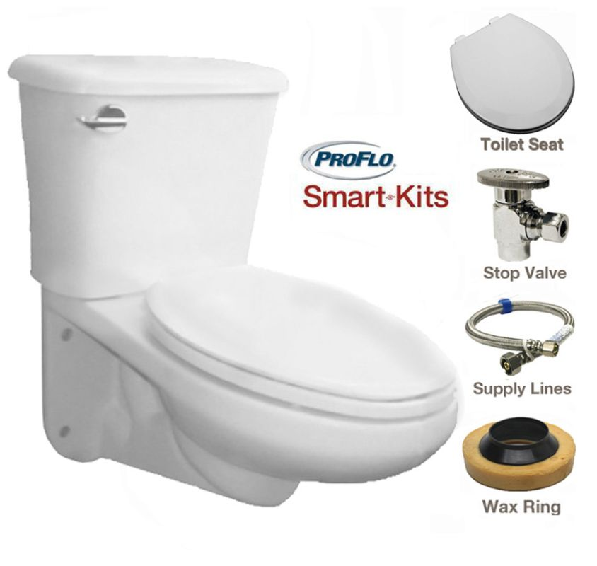 ProFlo PF1705HE/PF1710HE - Wall Mounted Toilets At Faucet.com